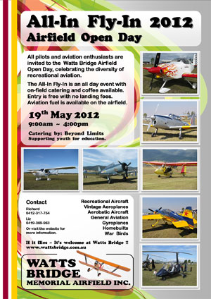 The All-In Fly-In 2012 Poster