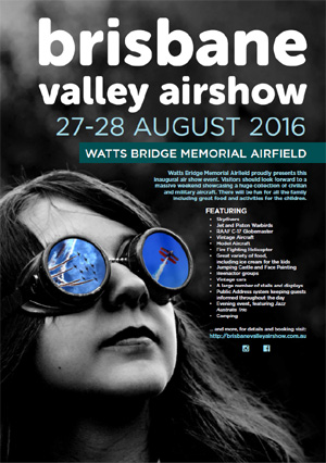 Brisbane Valley Airshow 2016 Poster