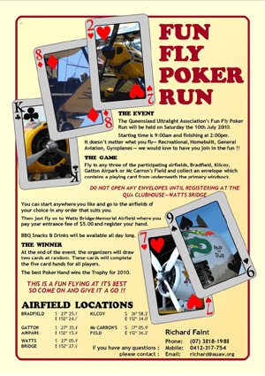The Fun Fly Poker Run 2010 Poster